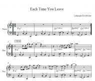 Each Time You Leave (Lohninger/Fischbacher)