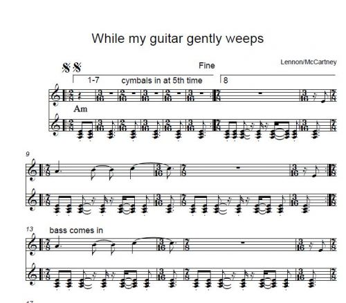 While My Guitar Gently Weeps (Harrison, arr. Fischbacher)